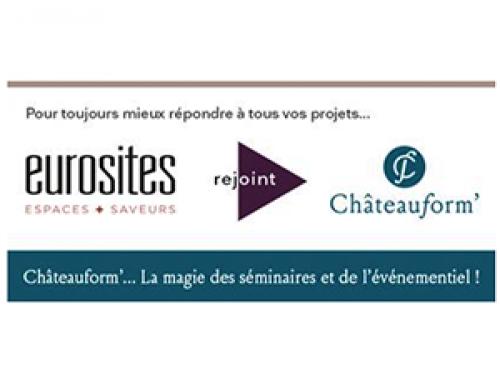 Communiqué de presse | Châteauform' et Eurosites s'unissent pour devenir le leader européen de la formation, des séminaires,de l'événementiel et des congrès